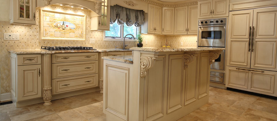 Fuda Tile Showcase Picture - French Pattern Floor Gold and Silver Granite with Double Ogee