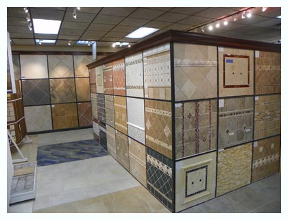 Tile Samples on display in Elmwood Park Tile Showroom